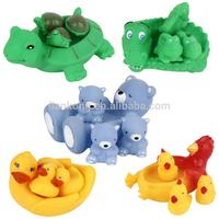 New arraivel creative cute animal Baby bath toys squeezed called baby toys