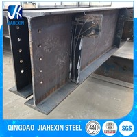 Factory supply cheap fabricated weld steel i beam with cleat connection