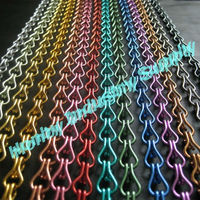 TNT Or DHL Free Shipping 1000m/Lot Luxury 12mm Colored Double Hook Decorative Aluminum Chain