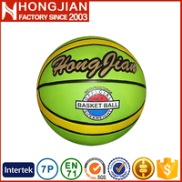 HB026 Size 7 logo design international rubber basketball weight