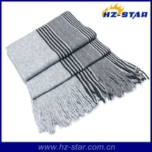 HZW-13066 2015 made in japan tricot neck wrap men striped knit scarf
