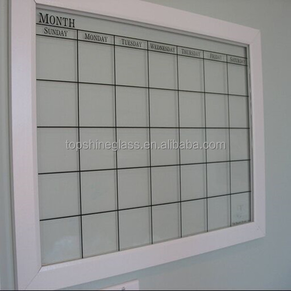 Memo clear glass magnetic writing board