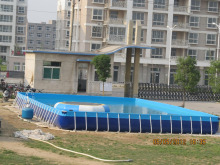 large rectangular metal frame swimming pool for kids and adults