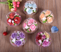 Free samples hot sale decoration handwork rose flower soap air freshener using at home