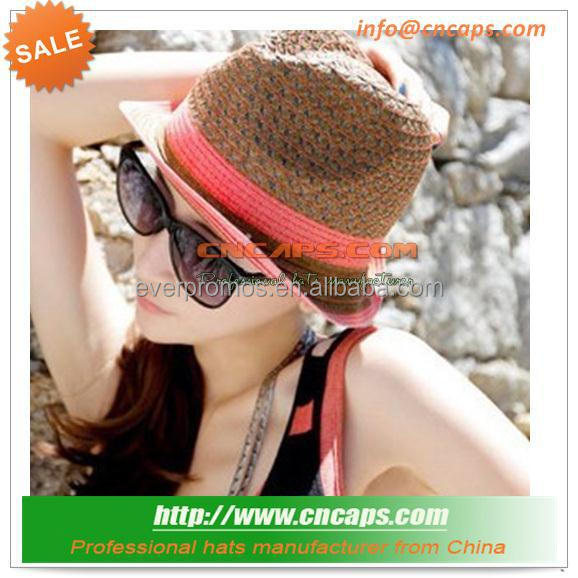 Summer Chapeau Trilby With Ribbon