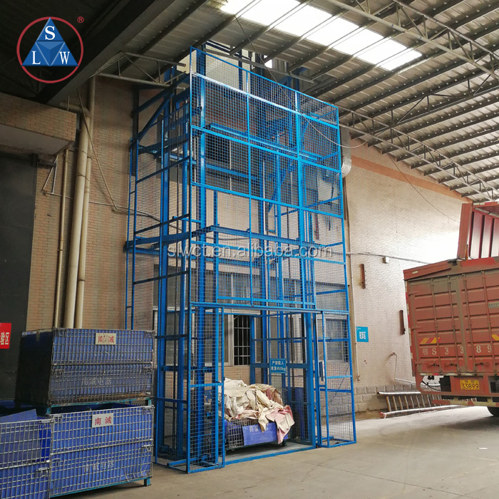 1000kg Hydraulic Electric Outdoor Material Lift Elevator