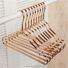 Adult Rose Copper Gold Shiny Metal Wire Top Clothes Hangers for Shirts Coat Storage & Display