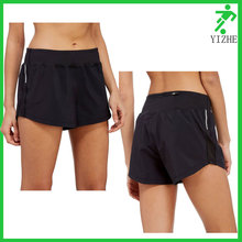 98%polyester 2%spandex gay short shorts black back with zipper pocket wholesale booty shorts women
