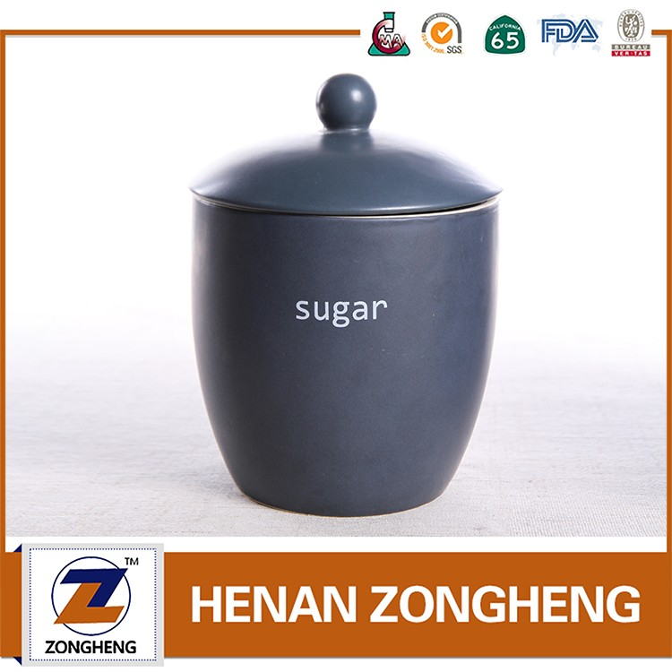 High quality ceramic sugar pot with lid