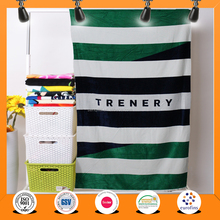 Stripe beach towel design promotional organic cotton towel wholesale
