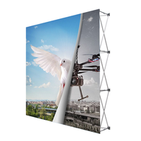 portable tradeshow aluminum 4x3 3x3 10ft pop up stand for backdrop display
