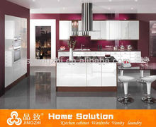 Cook equipped with luxury rail for movable acrylic drawer design fitted kitchen cabinet for cuisine