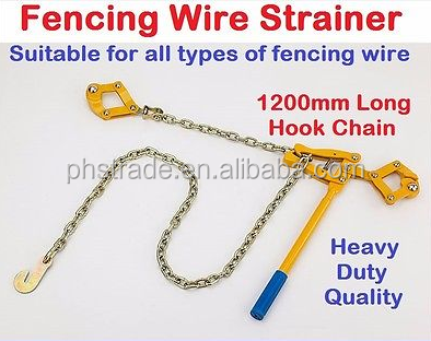 heavy duty quality 1200mm long hook chain fencing wire strainer