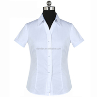 Latest 100% cotton office women formal dress business shirt