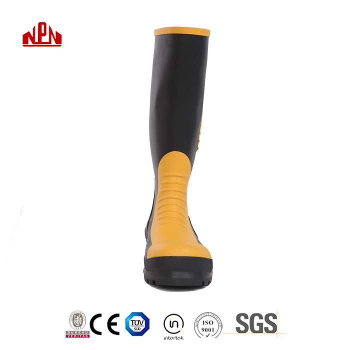 New Long Industrial Ruber Safety Shoes Men Manufacturer with steel toe cap