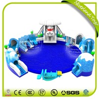 NEVERLAND TOYS Inflatable Swimming Pool with Slide Snow World Water Play Equipment Giant Inflatable Water Park for Sale
