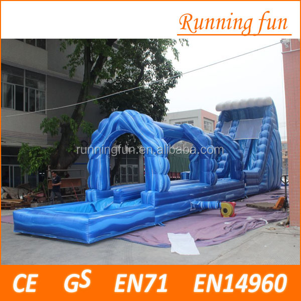 Christmas exciting kids inflatable slides with dual lanes, children inflatable pool with slide