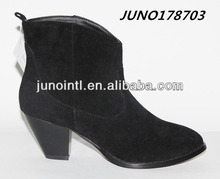 Women's Heel Support Boots in whosale PU suede black ankle boots for women shoes