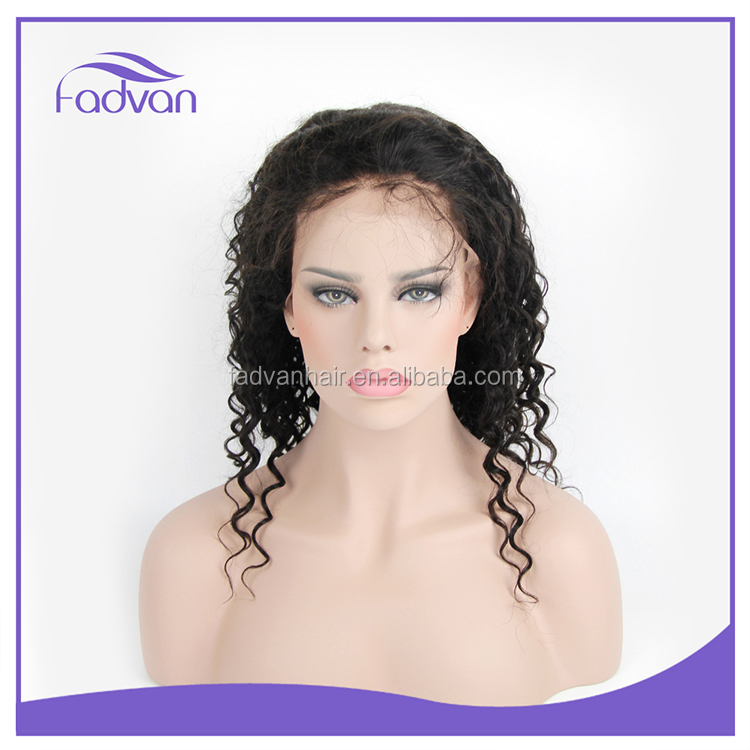 Wholesales Factory unprocessed virgin human brazilian hair lace front wig,braided human hair wigs