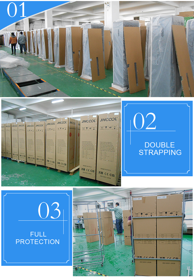 Side discharge floor stangding portable movable mini fan
