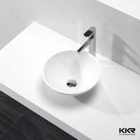 Bathroom Solid surface rectangular wash basin/Acrylic solid surface kitchen double sinks and bowls