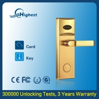 Card Swipe Rfid Door Access Control System For Hotel, New Products Keyless Electronic Hotel Wood Door Lock System Price List