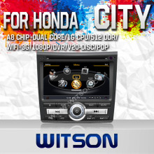 WITSON DIGITAL HD FOR HONDA CITY 2011 WITH 1.6GHZ FREQUENCY DVR SUPPORT WIFI 3G BLUETOOTH GPS