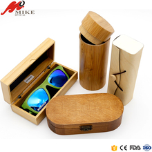 Custom logo fashion bamboo wooden sunglasses case box,sunglass box