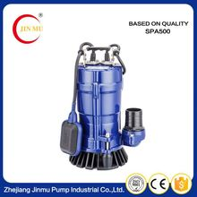 Domestic cheap aluminum casing single phase vertical centrifugal pumps small submersible pump for sale