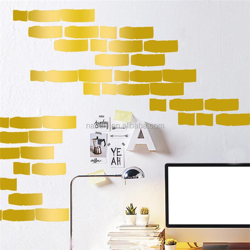 diy brique enfants chambre stickers muraux simple amovible tanche sticker d coration papier. Black Bedroom Furniture Sets. Home Design Ideas