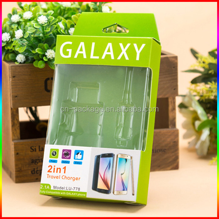 2 in1 cable for phone paper packing box /hot sale USB cable package