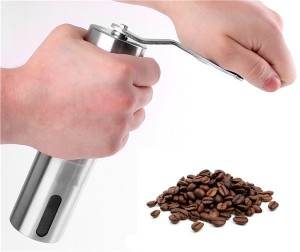 OEM Service Portable manual stainless steel commercial coffee maker large coffee bean grinder