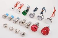 12mm high flat Momentary Stainless Steel small auto Pushbutton Switch