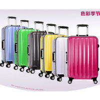 ABS+PC Brand Trolley Bags 4 Wheel Spinner Rolling Lightweight Hardcase Luggage