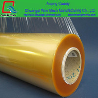 width45cm soft food packing / clear food grade plastic wrap / pvc cling film jumbo roll