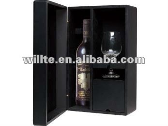 High quality MDF wine bottle box with door