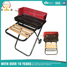 Camping bbq grill cart saving design vertical folding barbeque grill