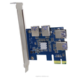 PCIE 1 to 4 PCIE 1x Multiplier expansion riser card