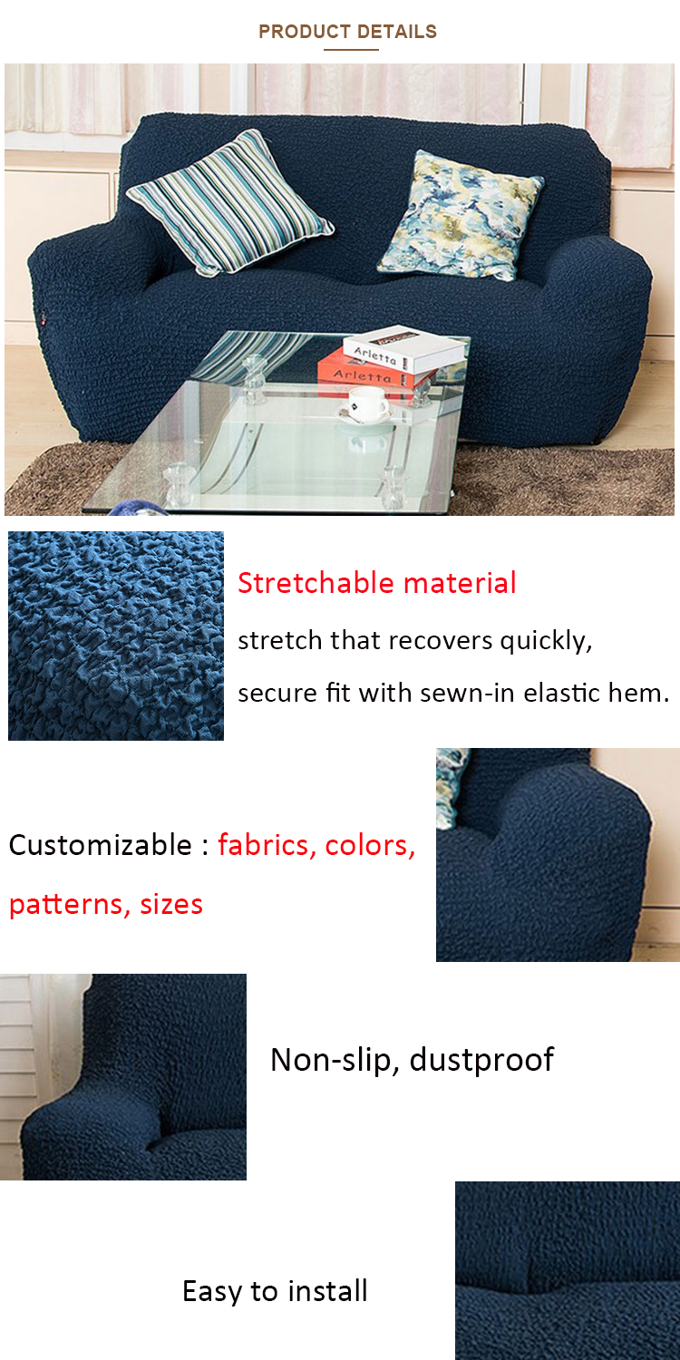 New arrival washable woven spandex fabric slipcover sofa waterproof sofa couch cover stretch sofa cover