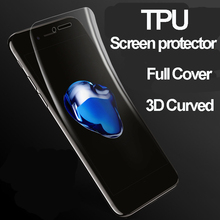 Full Cover 3D Curved TPU Material 3D Screen Protector for Iphone 7