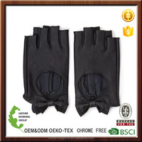 Faux Leather finger cut Fingerless driver Gloves