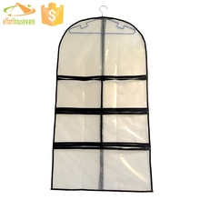 5 pockets PE zipper fabric transparent Multifunctional Garment suit bag