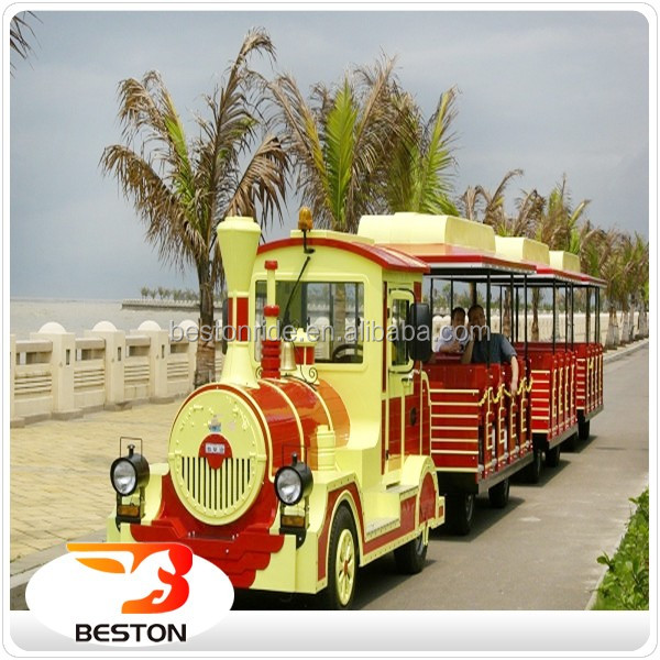 Amusement park attractive outdoor equipment tourist train for sale