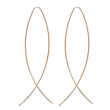 Brief design Wire Earrings Fish Shape Curved Line Vintage Punk Simple Geometric Club Earrings for women Silver/gold