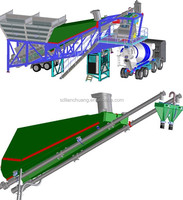 Best selling line! YHZS50 Mobile Concrete batching plant