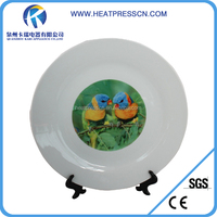 "8"" high quality blank plastic dinner Plates for sublimation"