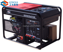 the construction site brushless ac gasoline generator with Vanguard engine 10000w