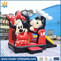 Mini mickey mouse bouncer inflatable mickey cartoon theme bouncer house with slide