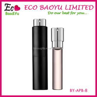 New Arrival 8 ml Aluminum Refillable Perfume Bottle Twist Perfume Bottle Twist Up Spray