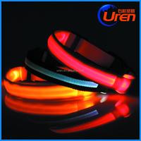 Adjustable 4 Size LED Light Flashing Pet Dog Safety Collar For Night Nylon